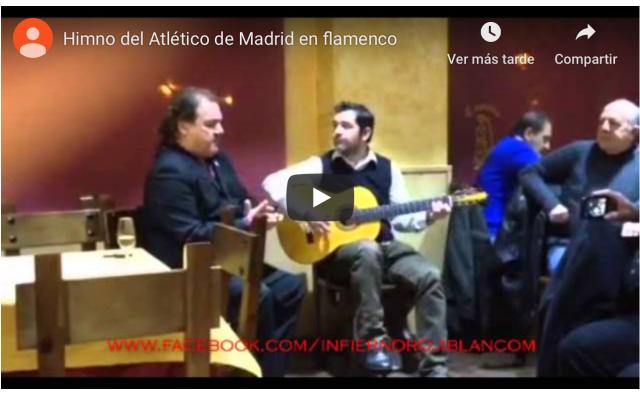 VIDEO: Así suena el himno del Atleti en versión flamenco