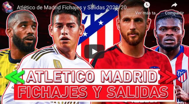 VIDEO: La lista de fichajes del Atlético para el 2021