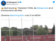 """Diego Costa on fire: así fue su """"cañito"""" en pleno entrenamiento"""