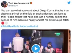 La broma viral de Diego Costa: ¡roció a los recogepelotas con spray!