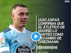 VIDEO: Aspas confirma el interés del Atlético en la SER