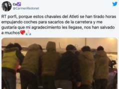 El Juvenil B del Atlético de Madrid ha demostrado valores en estos difíciles días de nieves. El vídeo es viral es tan sólo unas horas.