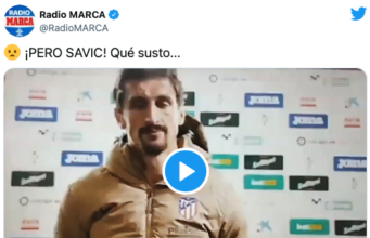 VIDEO: ¡Golpean a Savic...con la pancarta de LaLiga!