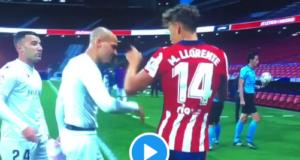 VIDEO VIRAL: Llorente evita pisar el escudo del Atleti