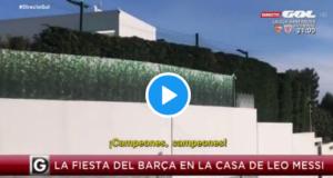 VIDEO: ¡Campeones, campeones! Ésto se escuchaba en la casa de Messi