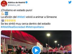VIDEO: ¡Cholismo en estado puro! La afición animaba a Simeone sin parar