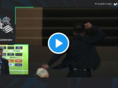 VIDEO: Simeone y la celebración final tras conseguir la victoria