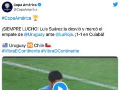 Vídeo del gol de Luis Suárez en la Copa América frente a Chile. El uruguayo sigue imparable.