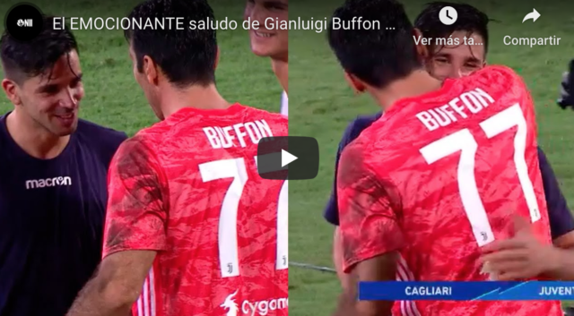 VIDEO: Emocionante saludo de Buffon a Simeone JR tras su golazo