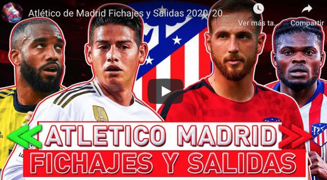 VIDEO: Los fichajes y ventas del Atlético para la temporada 2020-21